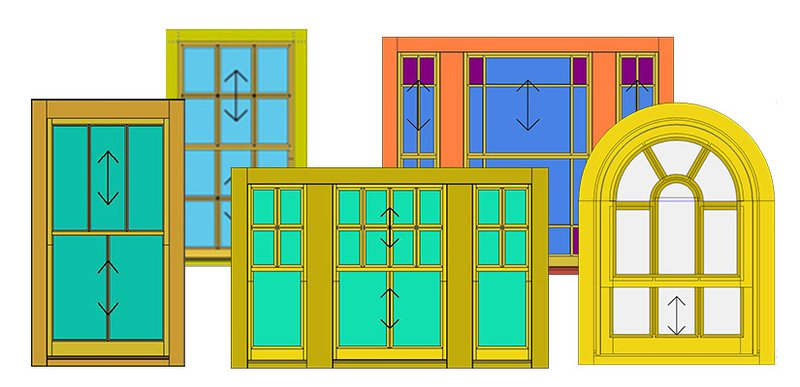 Example of sliding sash that can be achieved in JMS